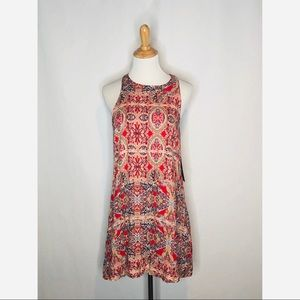NWT Lulus Red Printed Tank Dress small